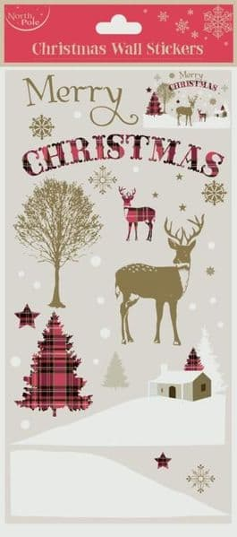 North Pole Wall Stickers Xmas Stag